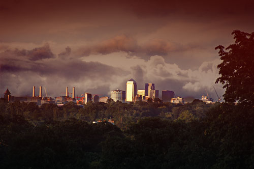 London skyline from Richmond Park